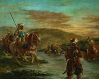 Fording a River in Morocco, 1858 Fine-Art Print