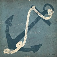 Nautical Anchor Blue Fine-Art Print