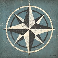 Nautical Compass Blue Fine-Art Print