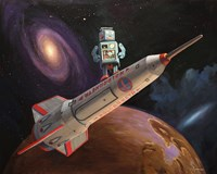 Rocket Surfer Fine-Art Print