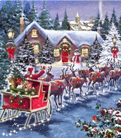 Santa And Sleigh Fine-Art Print