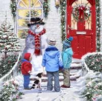 Garden Snowman Fine-Art Print