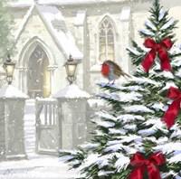 Robin By Church Fine-Art Print