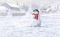 Making Snowman 3 Fine-Art Print