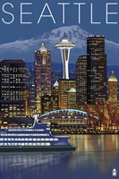 Seattle At Night Fine-Art Print