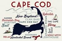 Cape Cod New England Text Fine-Art Print