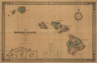 Hawaiian Islands Map Fine-Art Print