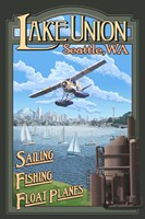 Lake Unions Seattle Fishing Fine-Art Print