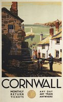 Cornwall Village Train Ad Fine-Art Print