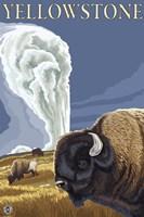 Yellowstone Rams In Field Fine-Art Print