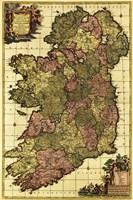 Old Map of Ireland Fine-Art Print