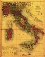 Map of Italy Fine-Art Print