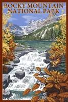 Rocky Mountain Park Waterfall Ad Fine-Art Print