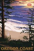 Oregon Coast Sunset Ad Fine-Art Print