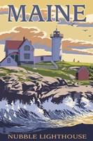 Nubble Lighthouse Ad Fine-Art Print
