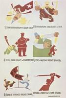Soviet Poster Against Wrangel'S White Guards 1920 Fine-Art Print