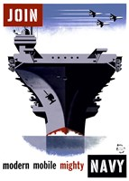 Join the Navy, Modern Mobile Mighty Fine-Art Print