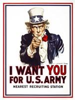 I Want You For U.S. Army Fine-Art Print