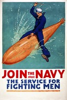 Join the Navy, the Service for Fighting Men Fine-Art Print