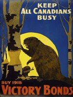 Keep All Canadians Busy, 1918 Victory Bonds Fine-Art Print