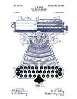 Type Writing Machine, Patented 1899 Fine-Art Print