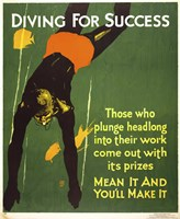 Diving for Success Fine-Art Print