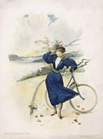 Cycling, Riverside Drive, New York Fine-Art Print