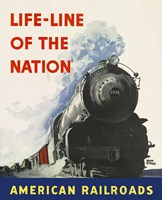 Life-line of the Nation American Railroads Fine-Art Print