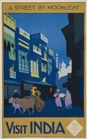 A Street by Moonlight - Visit India Fine-Art Print