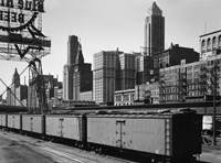 Chicago Skyline from Water Street Fine-Art Print