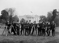 Press Correspondents and Photographers on White House Lawn Fine-Art Print