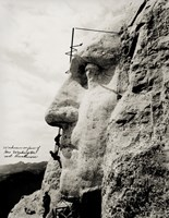 Workmen on Face of George Washington Fine-Art Print