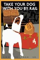 Dog by Rail Fine-Art Print