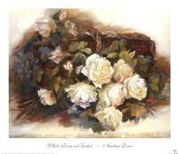 White Roses in Basket Fine-Art Print