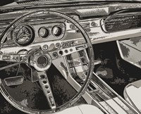 Vintage Car Dashboard Fine-Art Print