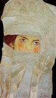 The Artist'S Sister Melanie With Silver-Colored Scarves, 1908 Fine-Art Print