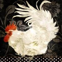 Rooster Damask I Fine-Art Print