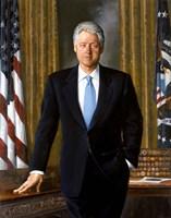 Bill Clinton in White House Fine-Art Print