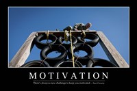 Motivation: Inspirational Quote and Motivational Poster Fine-Art Print