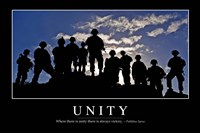 Unity: Inspirational Quote and Motivational Poster Fine-Art Print