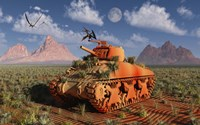 A World War II American Sherman Tank Fine-Art Print