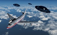 Boeing 747 and UFO's Fine-Art Print