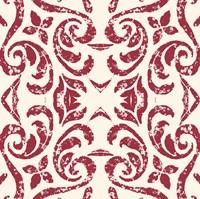 Damask Red Fine-Art Print