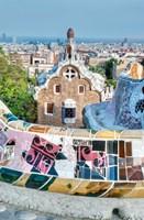 Spain, Catalonia, Barcelona, Park Guell Terrace Fine-Art Print