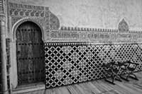 Spain, Andalusia, Alhambra Ornate Door and tile of Nazrid Palace Fine-Art Print