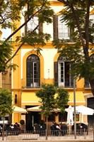 Outdoor Cafes, Plaza de la Merced, Malaga, Spain Fine-Art Print