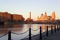Liver Building from Albert Dock, Liverpool, Merseyside, England Fine-Art Print