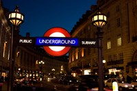 England, London Subway, Tube Entrance Fine-Art Print