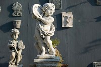 Greece, Ionian Islands, Kefalonia, Cherub Statue Fine-Art Print
