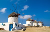 Traditional Windmill, Mykonos, Greece Fine-Art Print